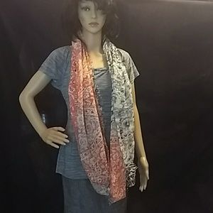 Pretty, colourful Infinity scarf.